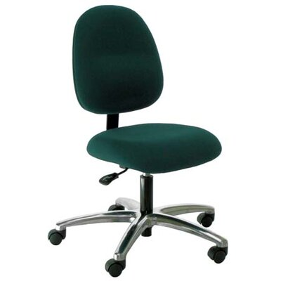 Industrial Seating Mid-Back Desk Height Office Chair - Color: Navy