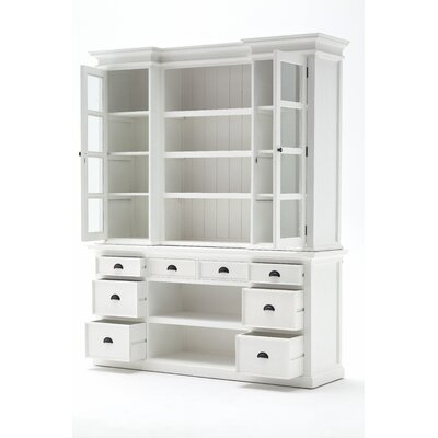 Library Hutch with Basket Set 85.61'' Bookcase Product Image 93
