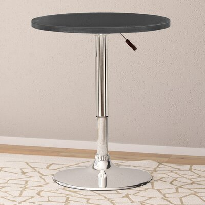 Adjustable Height Pub Table Top Finish: Black