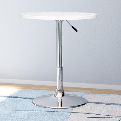 Image of Adjustable Height Pub Table Top Finish: White