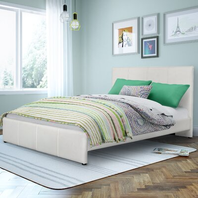 Fairfield Upholstered Platform Bed Size: Full / Double, Upholstery: White