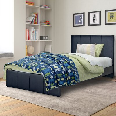 Fairfield Upholstered Platform Bed Upholstery: Black, Size: Twin / Single
