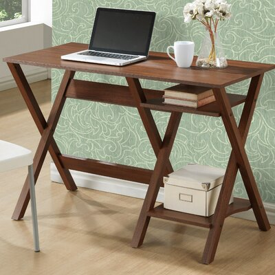 Folio 2 Lower Shelves Writing Desk Finish: Warm Oak