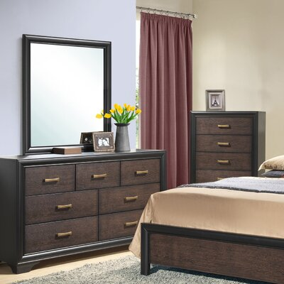 Lakeport 7 Drawer Dresser with Mirror