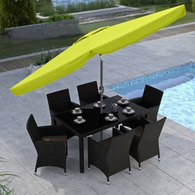 10' CorLiving Market Umbrella Fabric: Lime Green