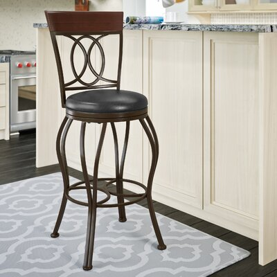 Mekhail Metal Bar Adjustable Height Swivel Bar Stool