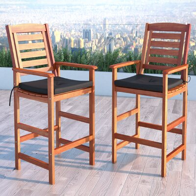 Folse 31.5 Bar Stool with Cushion