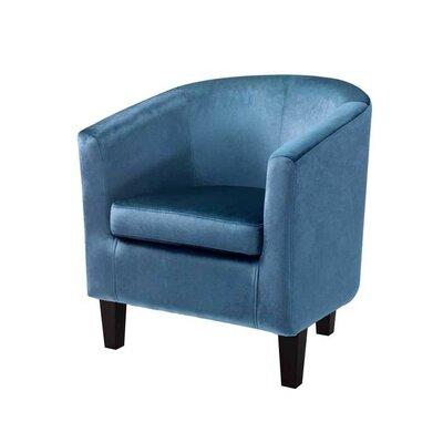 Barrel Chair Upholstery: Blue Velvet