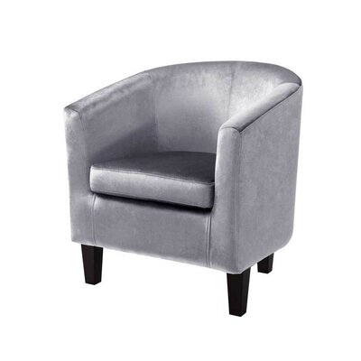 Velvet Barrel Chair Upholstery: Silver Gray Velvet