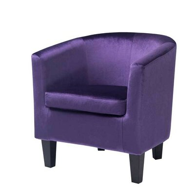 Barrel Chair Upholstery: Purple Velvet