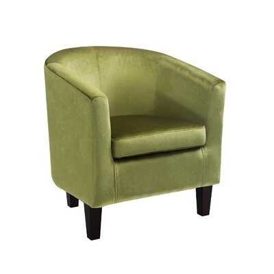 Velvet Barrel Chair Upholstery: Green Velvet