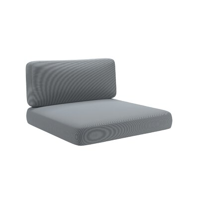 2 Piece Outdoor Chair Cushion Set Fabric: Dove Gray