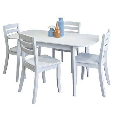 Wallace 5 Piece Wood Dining Set Finish: White