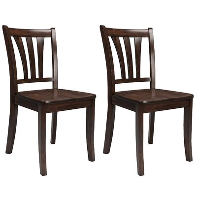 Wallace 2 Piece Solid Wood Side Chair Finish: Cappuccino