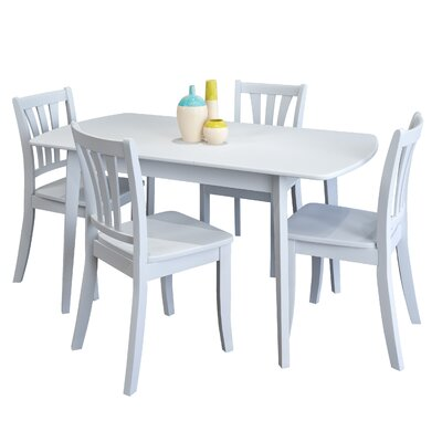Wallace 5 Piece Extendable Dining Set Finish: White