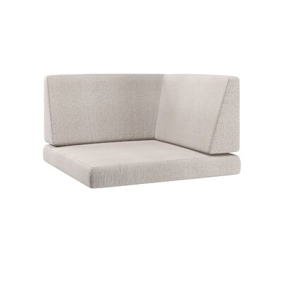 Chretien 3 Piece Outdoor Corner Chair Cushion Set Fabric: Salt/Pepper