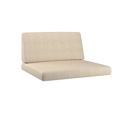 Chretien 2 Piece Outdoor Chair Cushion Set Fabric: Coral Sand