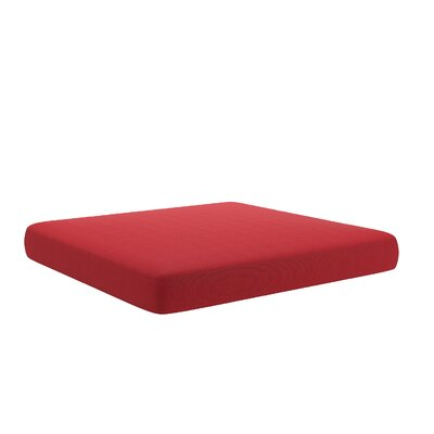 Outdoor Ottoman Cushion Fabric: Red