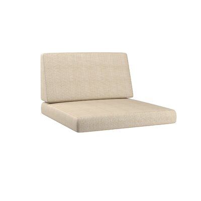 Chretien 2 Piece Outdoor Middle Chair Cushion Set Fabric: Coral Sand