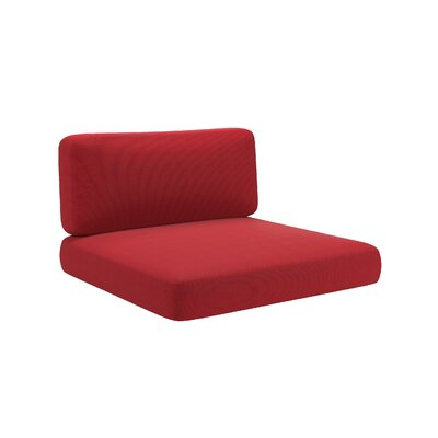 2 Piece Outdoor Chair Cushion Set Fabric: Red