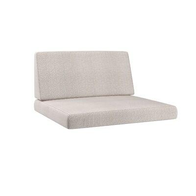 Chretien 2 Piece Outdoor Chair Cushion Set Fabric: Salt/Pepper