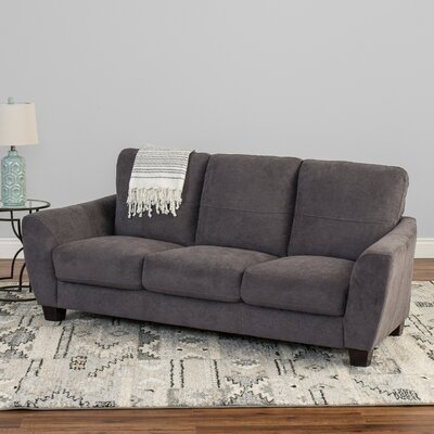 Lacy Chenille Sofa Upholstery: Gray