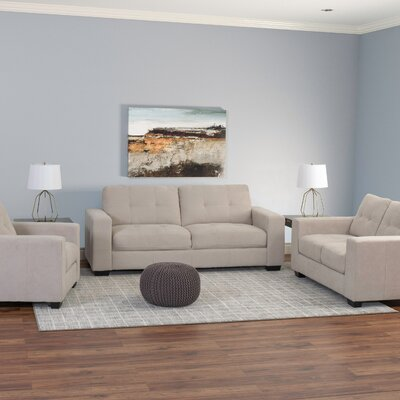 Kaye 3 Piece Living Room Set Upholstery: Beige