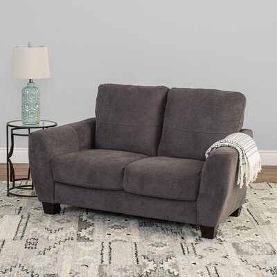 Lacy Chenille Loveseat Upholstery: Gray
