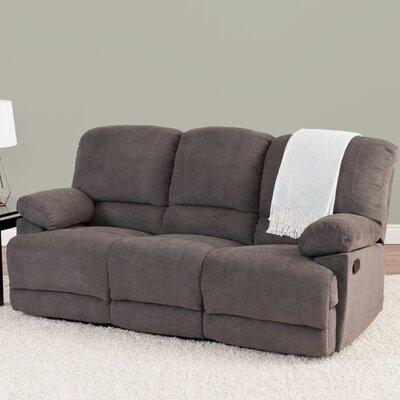 Condron Chenille Reclining Sofa Upholstery: Gray