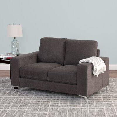 Hermia Chenille Loveseat Upholstery: Gray