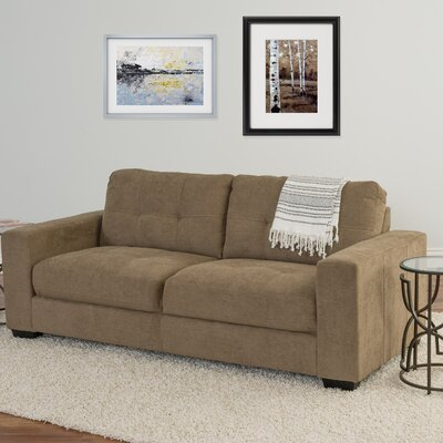 Kaye Chenille Sofa Upholstery: Brown