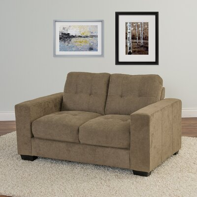 Kaye Chenille Loveseat Upholstery: Brown
