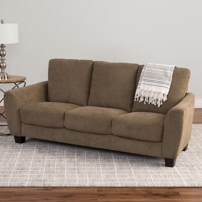 Lacy Chenille Sofa Upholstery: Brown