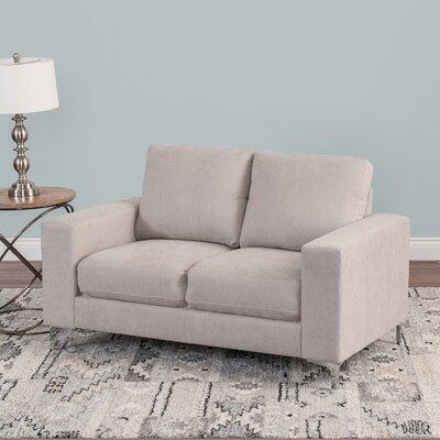 Hermia Chenille Loveseat Upholstery: Beige