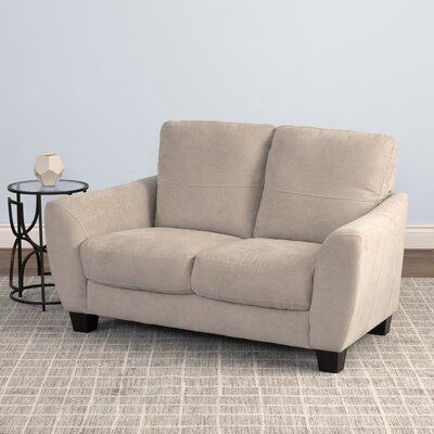 Lacy Chenille Loveseat Upholstery: Beige