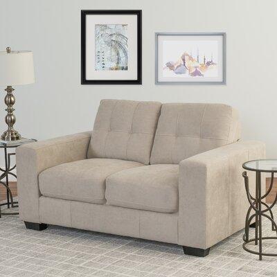Kaye Chenille Loveseat Upholstery: Beige