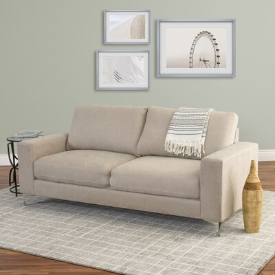 Hermia Chenille Sofa Upholstery: Beige