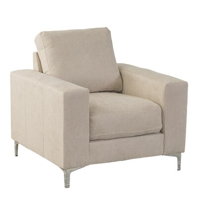 Hermia Chenille Armchair Upholstery: Beige