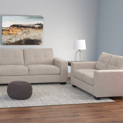 Kaye 2 Piece Living Room Set Upholstery: Beige