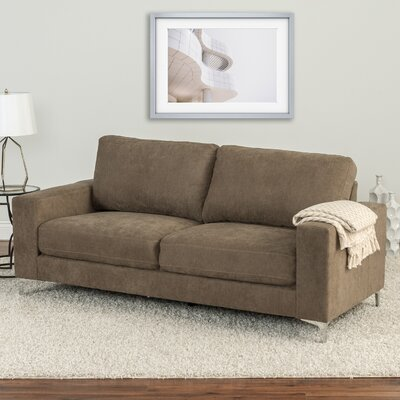 Hermia Chenille Sofa Upholstery: Brown