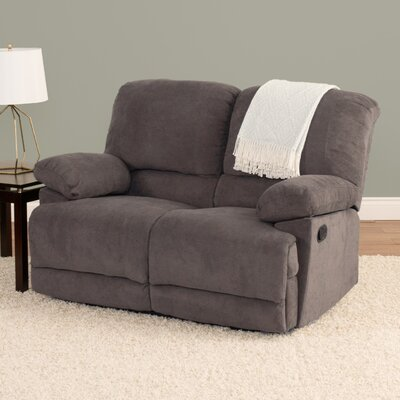 Condron Chenille Reclining Loveseat Upholstery: Gray