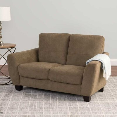 Lacy Chenille Loveseat Upholstery: Brown