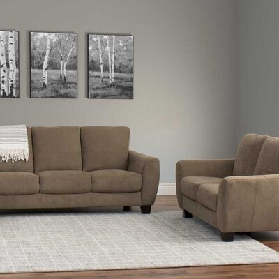 Lacy 2 Piece Living Room Set Upholstery: Brown