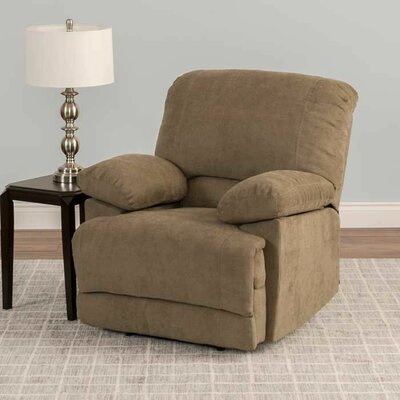Condron Recliner Upholstery: Brown