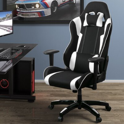 High Back Ergonomic Gaming Chair Color: Black/White