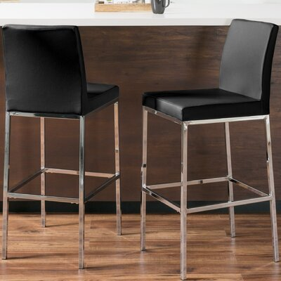 Onya Contemporary Bar Stool Upholstery: Black