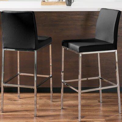 Onya Contemporary Bar Stool Upholstery: Black
