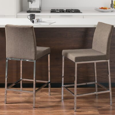 Onya Bar Stool Upholstery: Brown