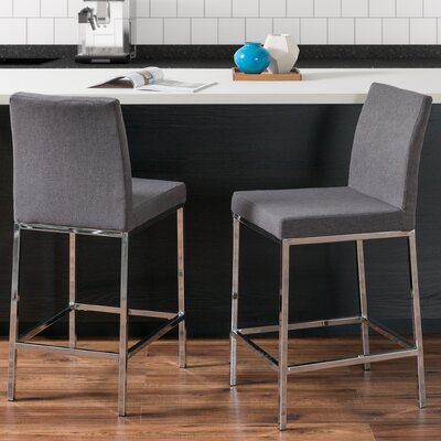 Onya Bar Stool Upholstery: Gray