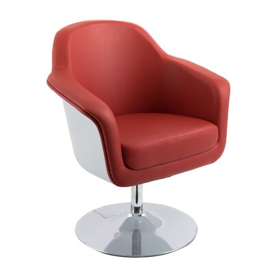 Mod Swivel Armchair Upholstery: Red